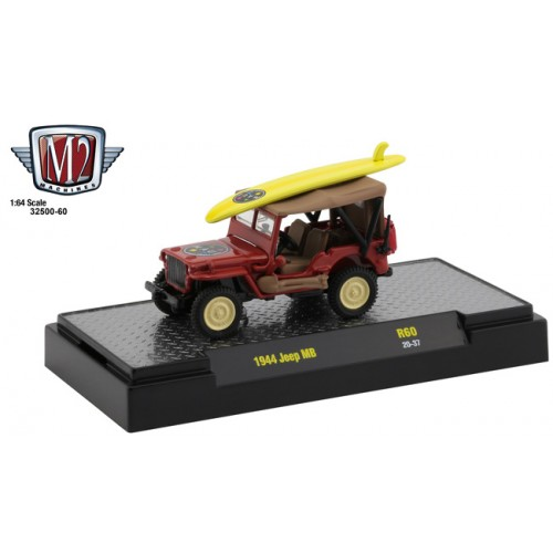 M2 Machines Auto-Thentics Release 60 - 1944 Jeep MB Maui and Sons