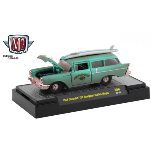 M2 Machines Auto-Thentics Release 60 - 1957 Chevrolet 150 Handyman Station Wagon