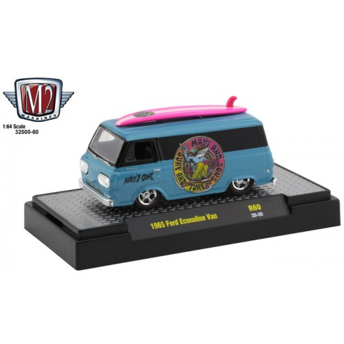 M2 Machines Auto-Thentics Release 60 - 1965 Ford Econoline Van Maui and Sons