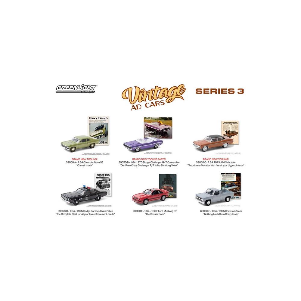 Greenlight Vintage Ad Cars Series 3 - Six Car Set