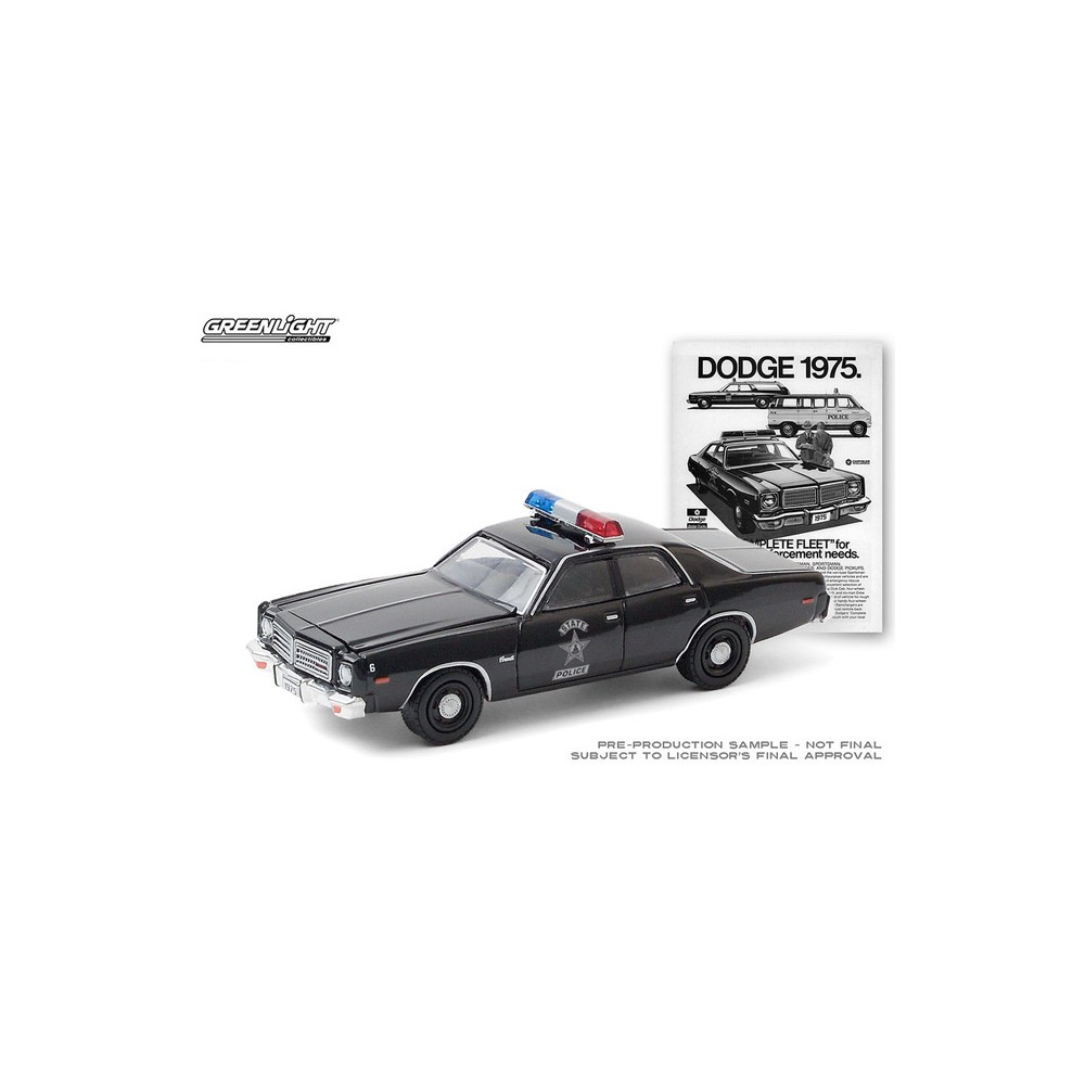 Greenlight Vintage Ad Cars Series 3 - 1975 Dodge Coronet State Police Car