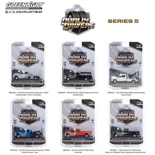 Greenlight Dually Drivers Series 5 - Six Truck Set