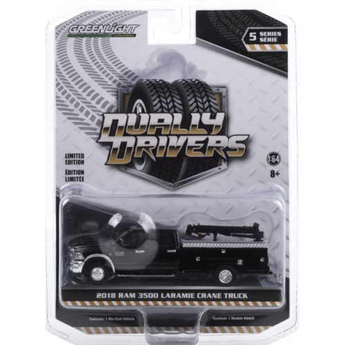 Greenlight Dually Drivers Series 5 - 2018 RAM 3500 Dually Crane Truck