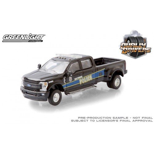 Greenlight Dually Drivers Series 5 - 2019 Ford F-350 Dually Truck Baltimore Police