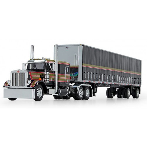 DCP Peterbilt 359 with Utility Tautliner Spread-Axle Trailer