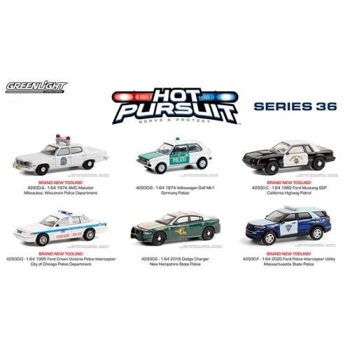 Greenlight Hot Pursuit Series 36 - Six Car Set
