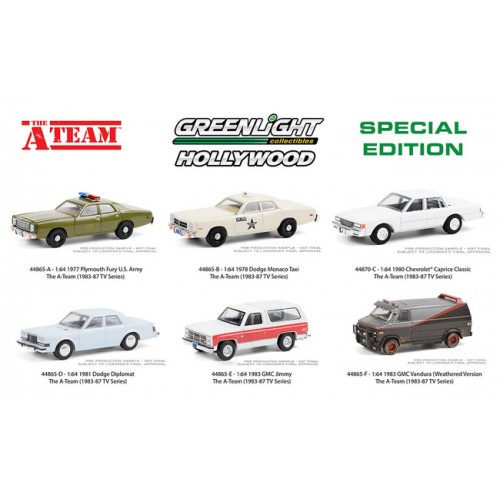 Greenlight Hollywood Special Edition - The A-Team Six Car Set