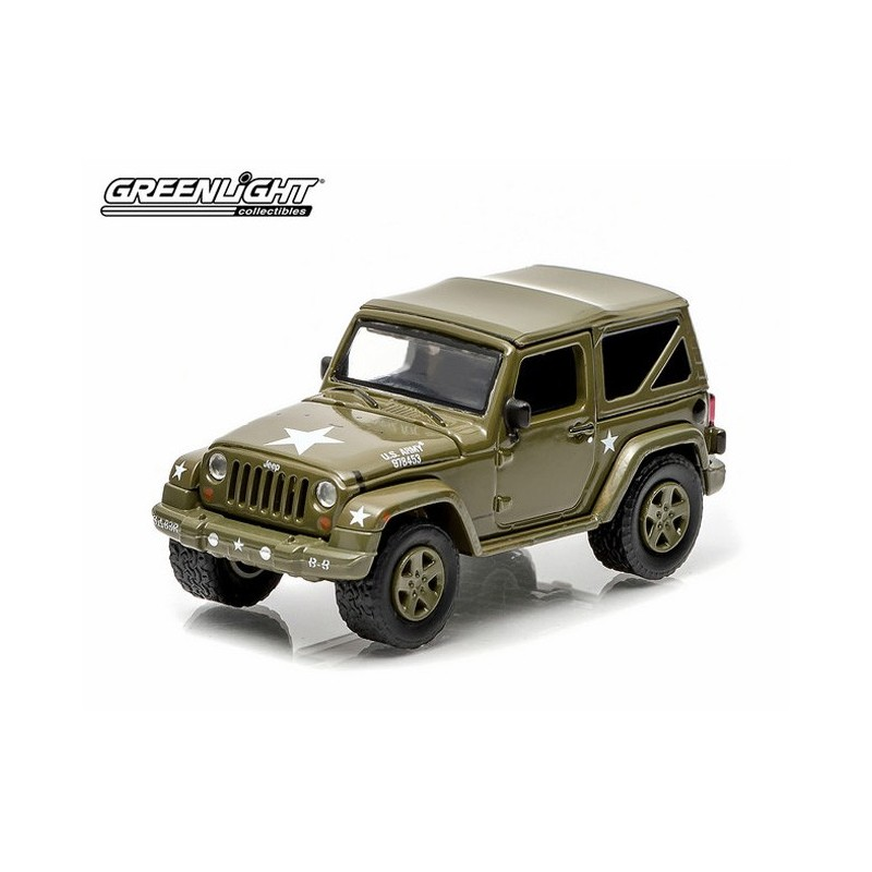 Greenlight Hobby Exclusive 2014 Jeep Wrangler Soft Top U S Army