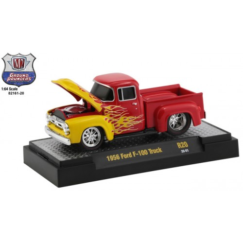 M2 Machines Ground Pounders Release 20 - 1956 Ford F-100 Truck