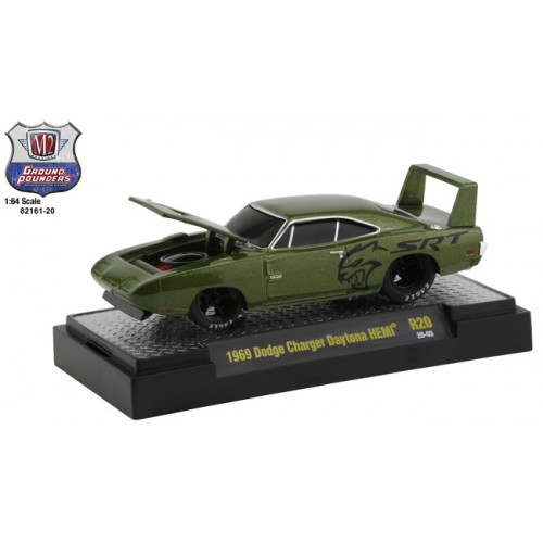 M2 Machines Ground Pounders Release 20 - 1969 Dodge Charger Daytona HEMI