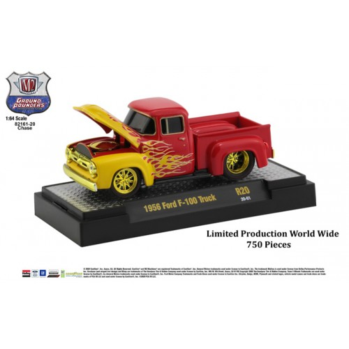 M2 Machines Ground Pounders Release 20 - 1956 Ford F-100 Truck CHASE VERSION