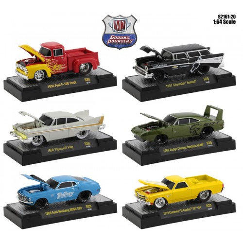 M2 Machines Ground Pounders Release 20 - Six Car Set