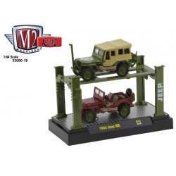 M2 Machines Auto-Lift Release 19 - 1944 Willys MB Jeep Set
