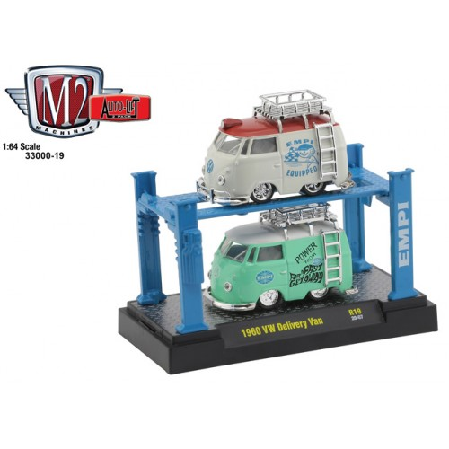 M2 Machines Auto-Lift Release 19 - 1960 Volkswagen Delivery Van Set