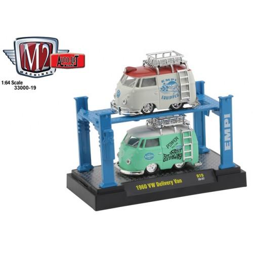M2 Machines Auto-Lift Release 19 - 1960 Volkswagen Delivery Van Set