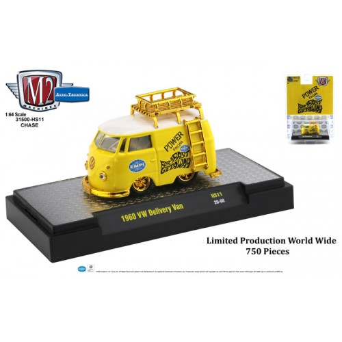 M2 Machines Hobby Exclusive - 1960 Volkswagen Delivery Van CHASE VERSION
