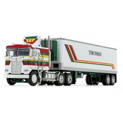 DCP by First Gear - Kenworth K-100 COE with Vintage Reefer Trailer Tom Inman Trucking