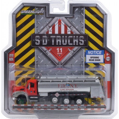 Greenlight S.D. Trucks Series 11 - 2018 International WorkStar Tanker Truck FDNY