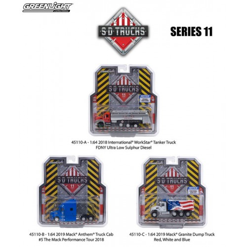 Greenlight S.D. Trucks Series 11 - SET
