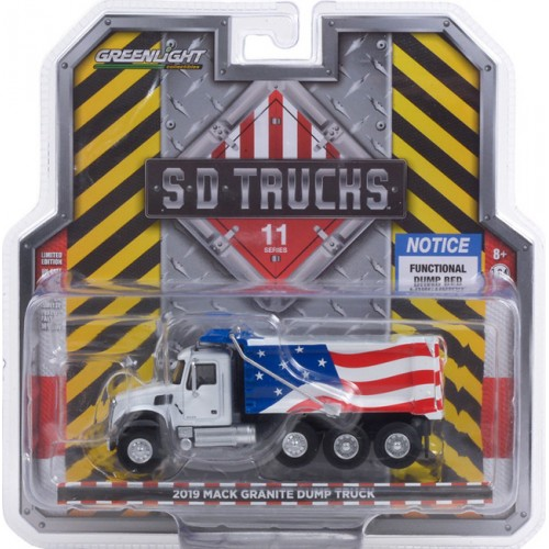 Greenlight S.D. Trucks Series 11 - 2019 Mack Granite Dump Truck