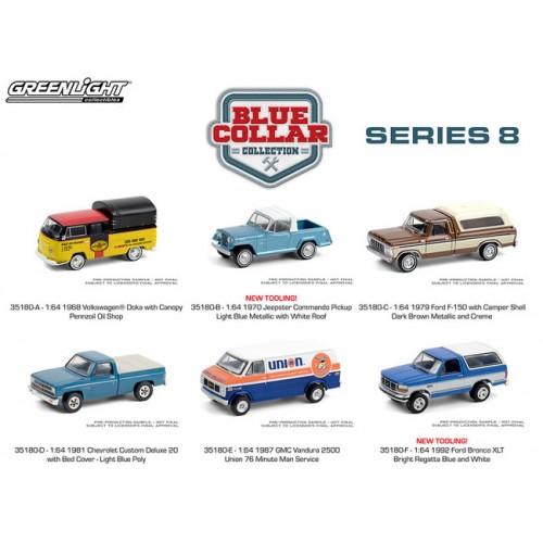 Greenlight Blue Collar Series 8 - Six Car Set
