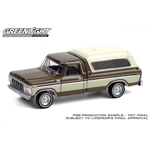 Greenlight Blue Collar Series 8 - 1979 Ford F-150 with Camper Shell