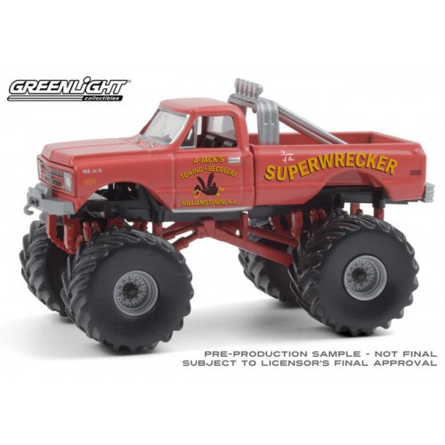 Greenlight Kings of Crunch Series 8 - 1968 Chevrolet K-10 Monster Truck Superwrecker