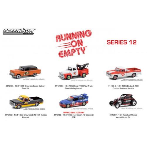 Greenlight Running on Empty Series 12 - Six Car Set