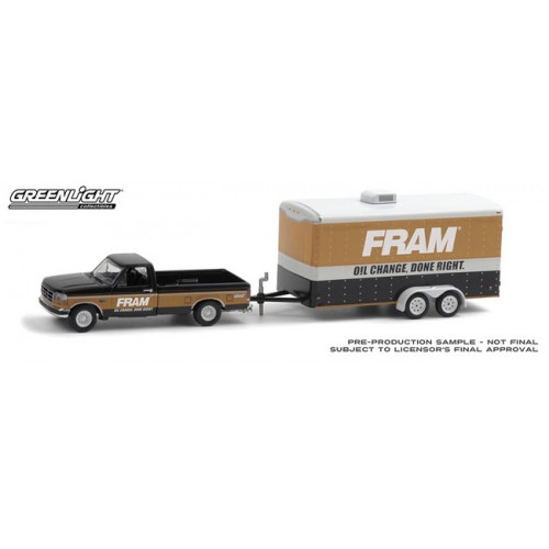 Greenlight Hitch and Tow Series 21 - 1994 Ford F-150 XLT with Enclosed Car Hauler