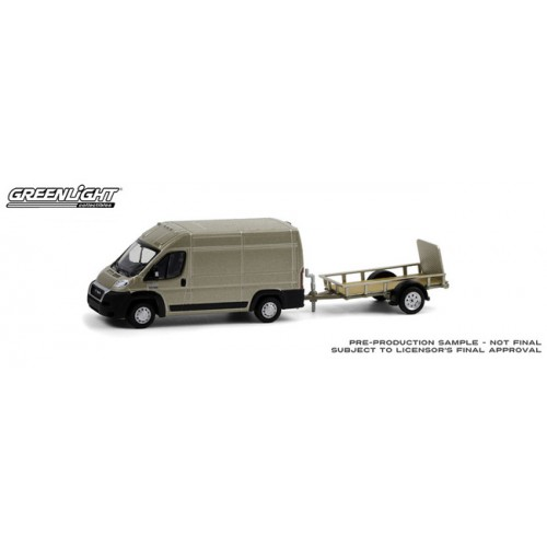 Greenlight Hitch and Tow Series 21 - 2019 RAM ProMaster 2500 with Utility Trailer