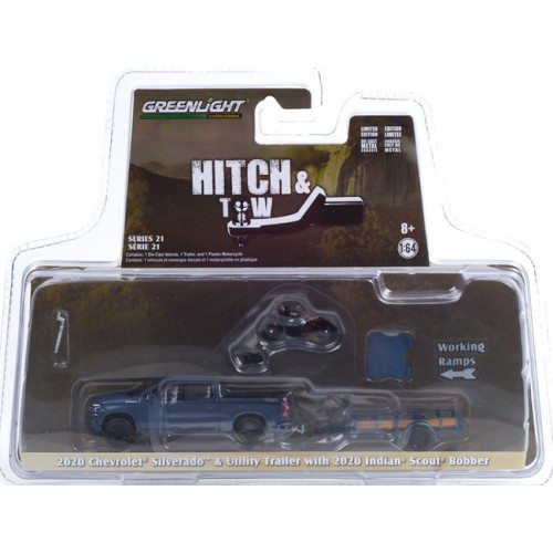 Greenlight Hitch and Tow Series 21 - 2020 Chevrolet Silverado and Utility Trailer