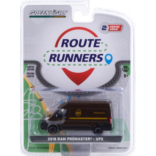 Greenlight Route Runners Series 2 - 2018 RAM Promaster 2500 Cargo High Roof