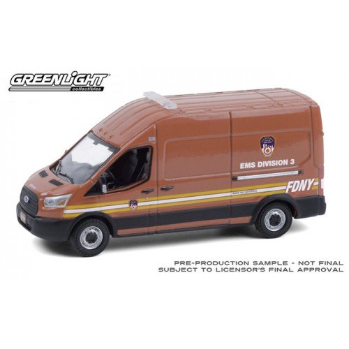 Greenlight Route Runners Series 2 - 2019 Ford Transit FDNY