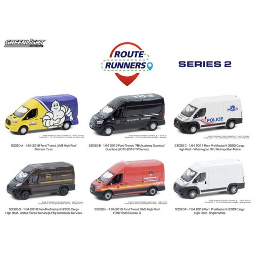 Greenlight Route Runners Series 2 - Six Truck Set