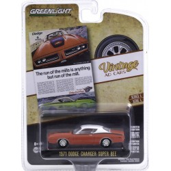 Greenlight Vintage Ad Cars Series 4 - 1971 Dodge Charger Super Bee