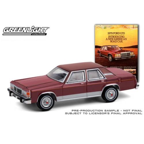 Greenlight Vintage Ad Cars Series 4 - 1979 Ford LTD Sedan