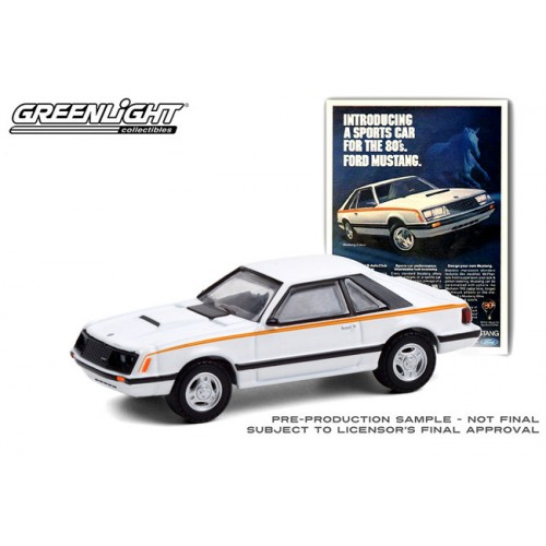 Greenlight Vintage Ad Cars Series 4 - 1980 Ford Mustang