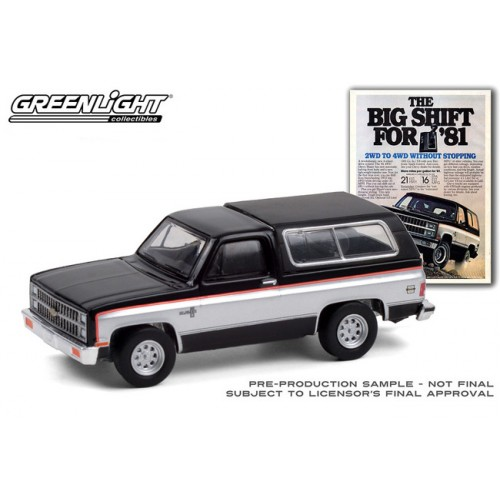 Greenlight Vintage Ad Cars Series 4 - 1981 Chevrolet K5 Blazer