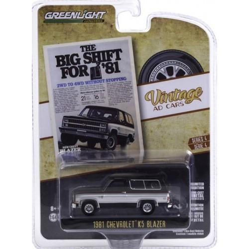 Greenlight Vintage Ad Cars Series 4 - 1981 Chevrolet K5 Blazer