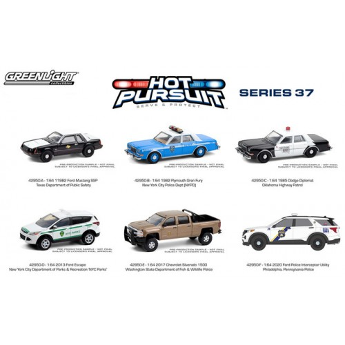 Greenlight Hot Pursuit Series 37 - Six Car Set