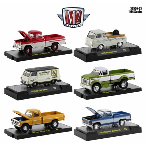 M2 Machines Auto-Trucks Release 63 - Six Truck Set