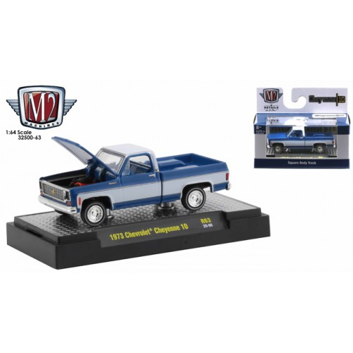 M2 Machines Auto-Trucks Release 63 - 1973 Chevrolet Cheyenne 10 Square Body Truck