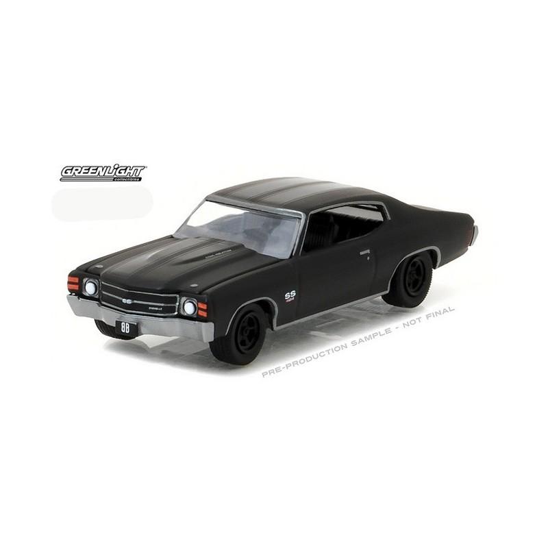Greenlight 1:64 Scale 2017 Black Bandit Series 17 1971 CHEVROLET CHEVELLE SS 454