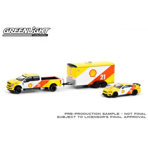 Greenlight Racing Hitch and Tow Series 3 - 2019 Ford F-350 Lariat and 2021 Ford Mustang Mach I