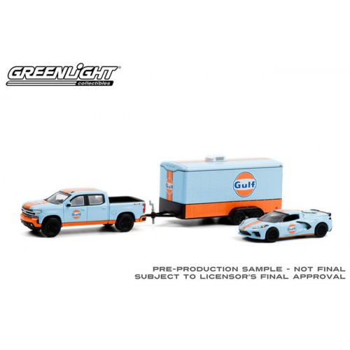 Greenlight Racing Hitch and Tow Series 3 - 2021 Chevy Silverado and 2021 Chevy Corvette C8 Stingray