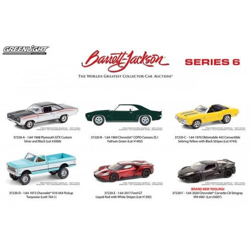 Greenlight Barrett-Jackson Series 6 - Six Car Set