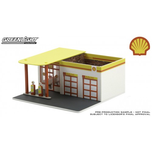 Greenlight Mechanics Corner Series 7 - Vintage Gas Station Shell Oil 2