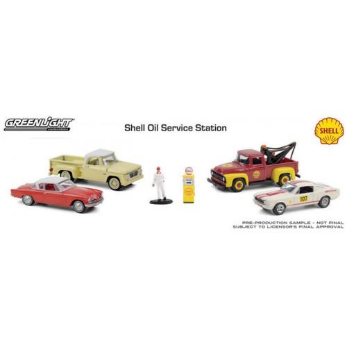 Greenlight Multi-Car Diorama - Shell Oil Service Center