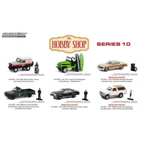 Greenlight The Hobby Shop Series 10 - Six Car Set