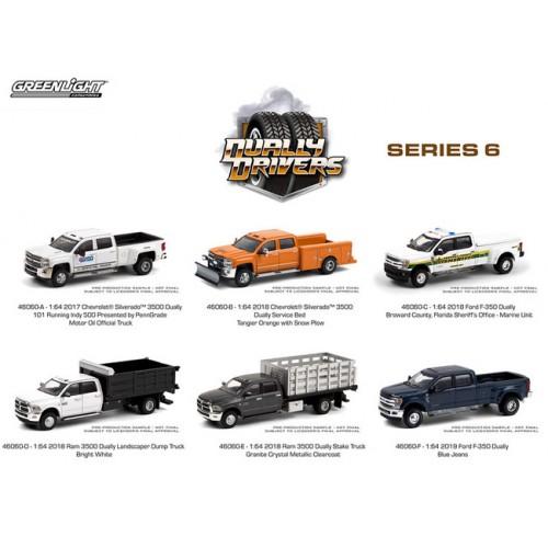 Greenlight Dually Drivers Series 6 - Six Truck Set